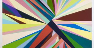 Odili Donald Odita - Point of Return, 2010 Acrylic on canvas 90 x 92 inches